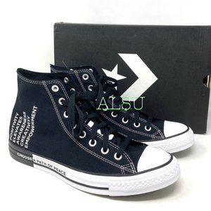 Converse Ctas High Top Canvas Black Sneakers Men's